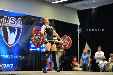 Shannon competes at the USA Weightlifting (USAW) American Open in 2014